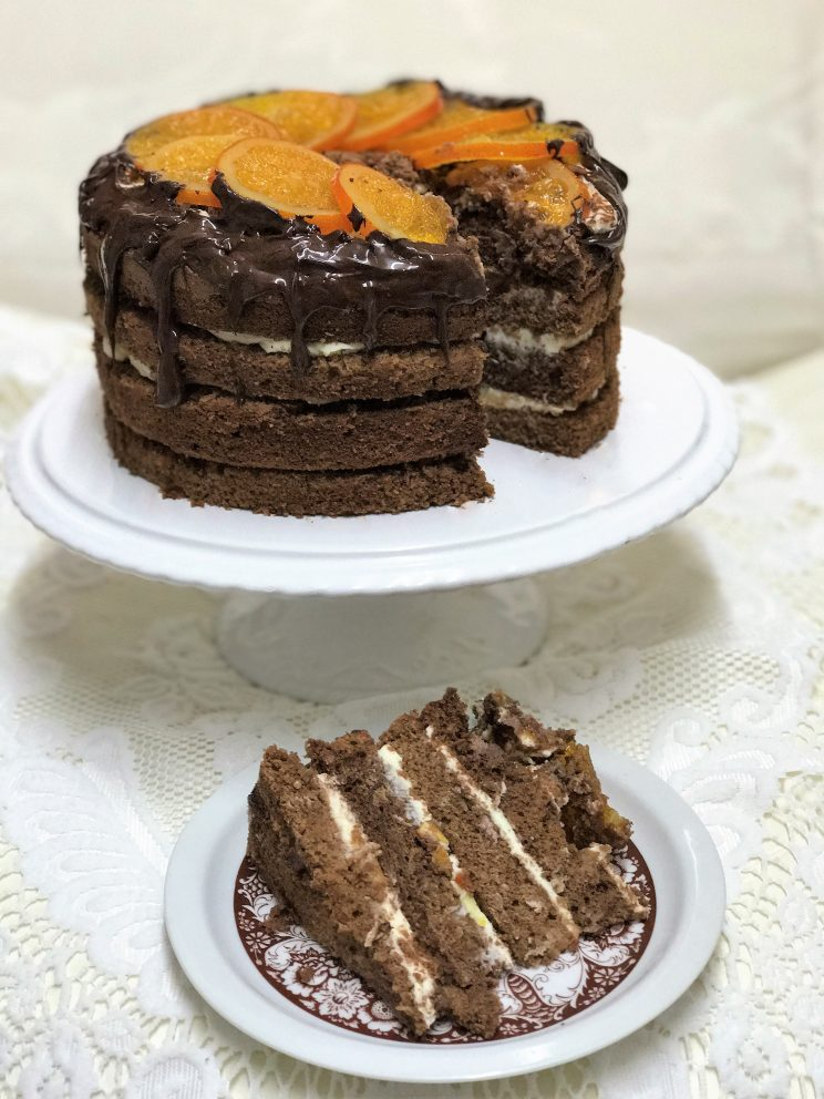 Aggy's chocolate orange gateau