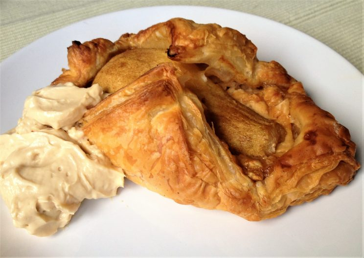 Pearfect turnover. A pear and cheese puff pastry wrap, easy and quick to bake.